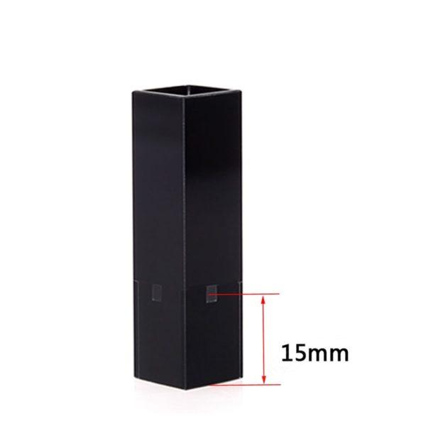 15mm Z dimension Sub-micro All Black Cuvette