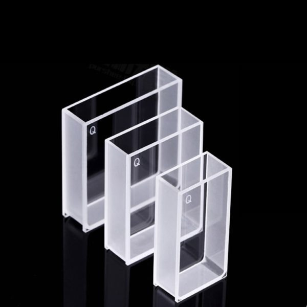 20 / 30 / 40 mm Wide Window Clear Cuvette for Spectrometers