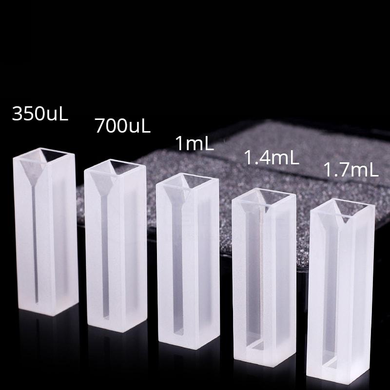 350 700 1000 1400 1700uL Semi Micro UV Cuvette