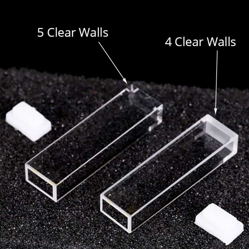 4 or 5 Clear Walls Cuvette 1.7mL