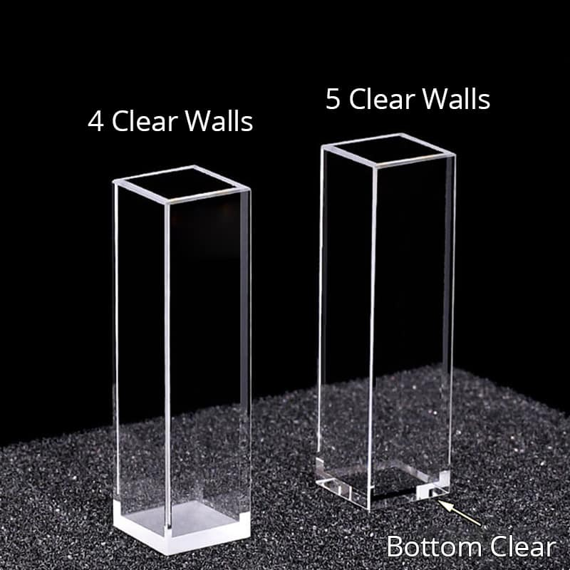 4 or 5 Clear Walls Cuvette