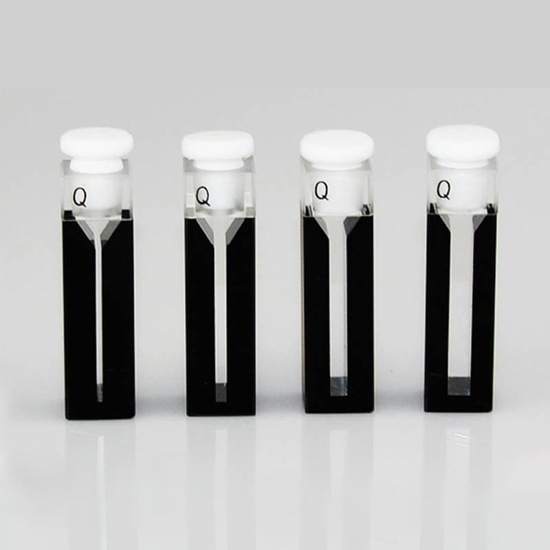 Black Wall Semi Micro Cuvette with PTFE Stopper