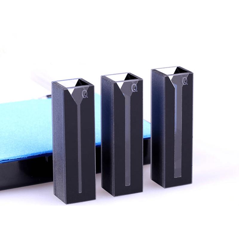 Black Wall Spectrophotometer Cuvette Semi Volume