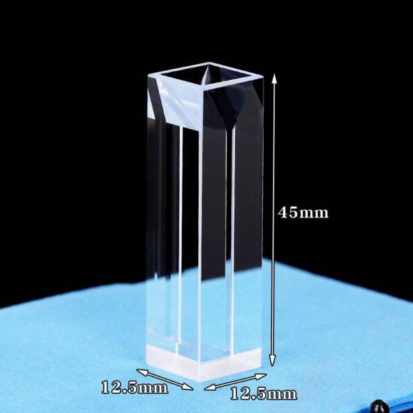 Fluorescence Quartz Semi Micro Cuvette Size