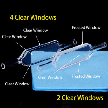 2 and 4 clear windows flow cell comparison