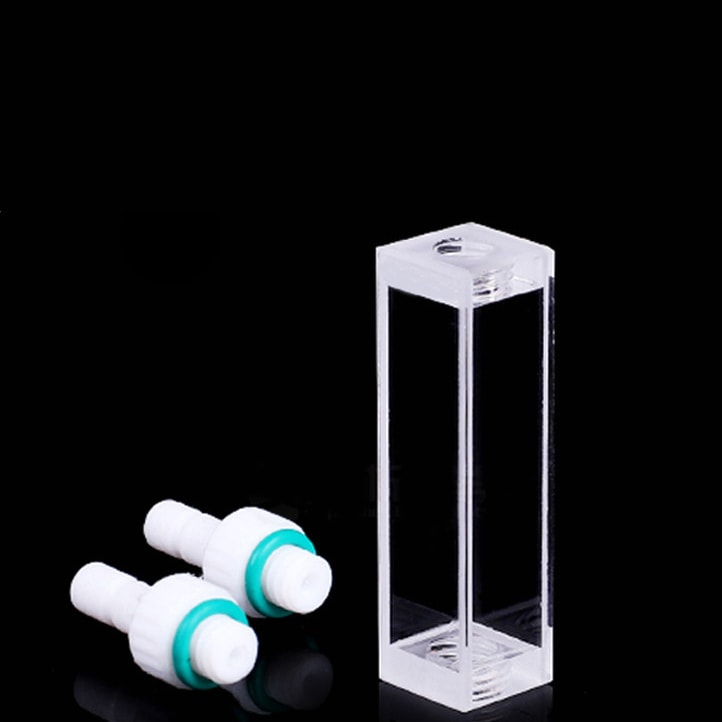 PTFE Connector Flow Cell 4 Clear Windows