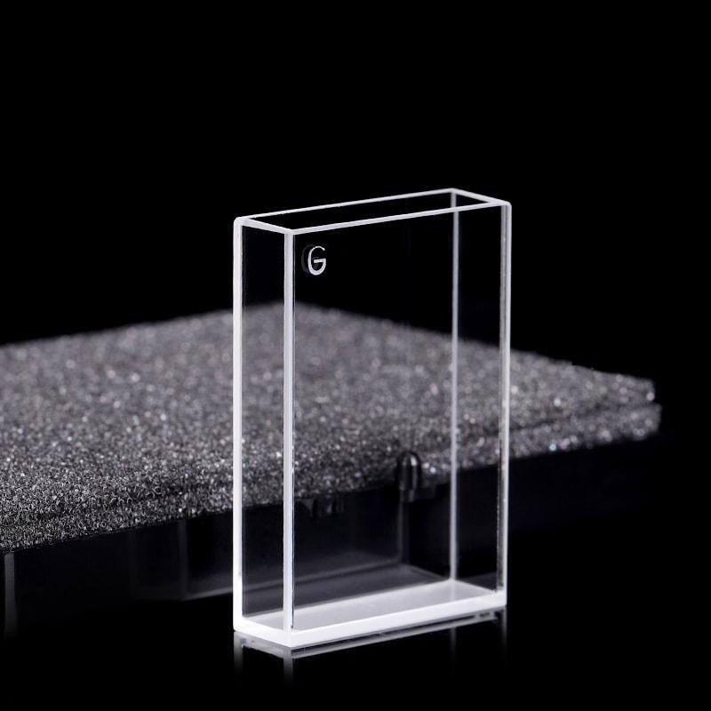 10850mm 4 Clear Windows Glass Cuvette