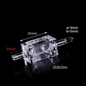 10mm 1.5mL Single Channel Bubble Free Flow Cell Size