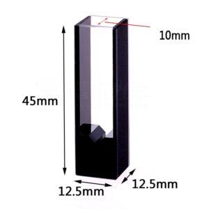 10mm 20uL Black Wall Quartz Cuvette Sizes