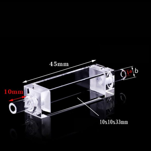 10mm 3.5mL Single Channel Flow Through Cuvette Size