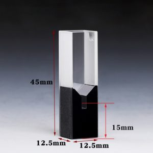 100uL Black Wall Sub Micro Cuvette Size