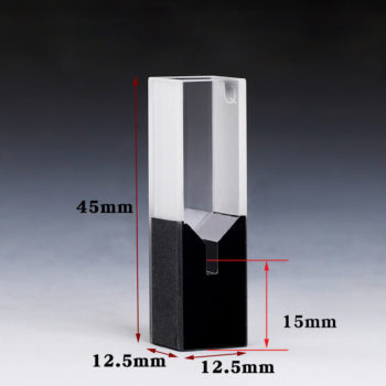 100uL Black Wall Sub Micro Cuvette Size