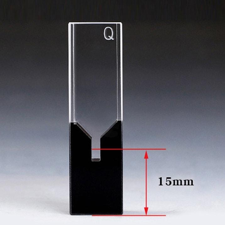 100uL Black Wall Sub Micro Cuvette Z Dimension 15mm