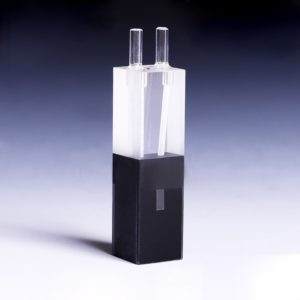 10mm Path Length 100uL Micro Volume Black Wall Flow Cell