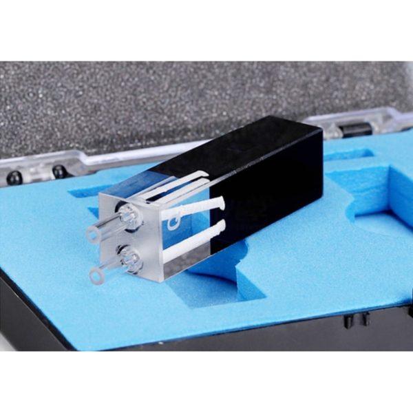 10mm Path Length Black Flow Through Cell Quartz Connector