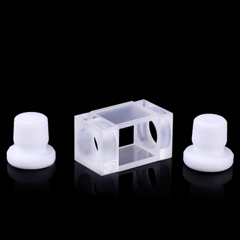10mm Path Length Flow Cell with Stopper 2 Windows