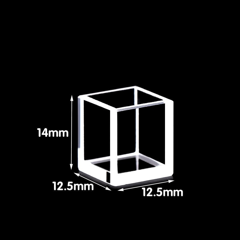 12.5x12.4x14mm Square Cuvette Made of Quartz Material