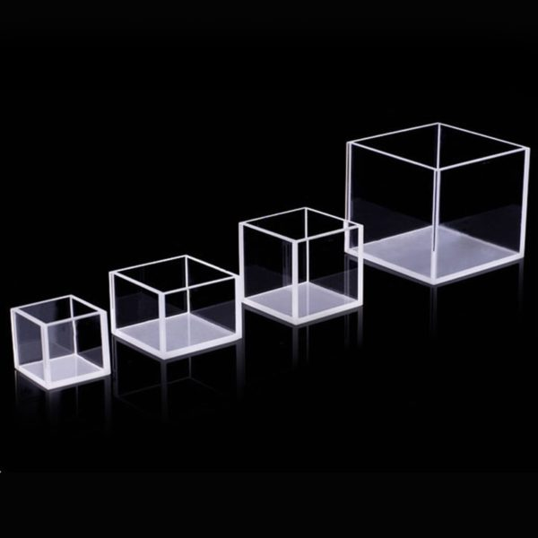 20/30/50mm Path Length Fluorescence Reaction Cell 4 Polished Wall