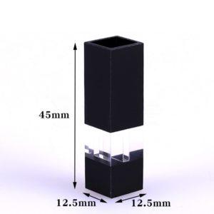 200uL Semi Black Wall Fluorescence Cuvette Size