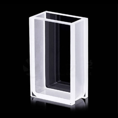 3mm Thick Wall 2 Clear Window 10mm Path Quartz Cuvette