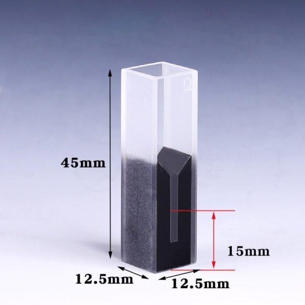 300uL Black Wall Micro Cuvette Dimension