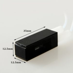 2 Window Path Black 400uL M6 Connector Flow Cell Size