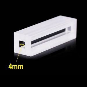 4mm Path Length 2 WIndows Spectrophotometer Cuvette