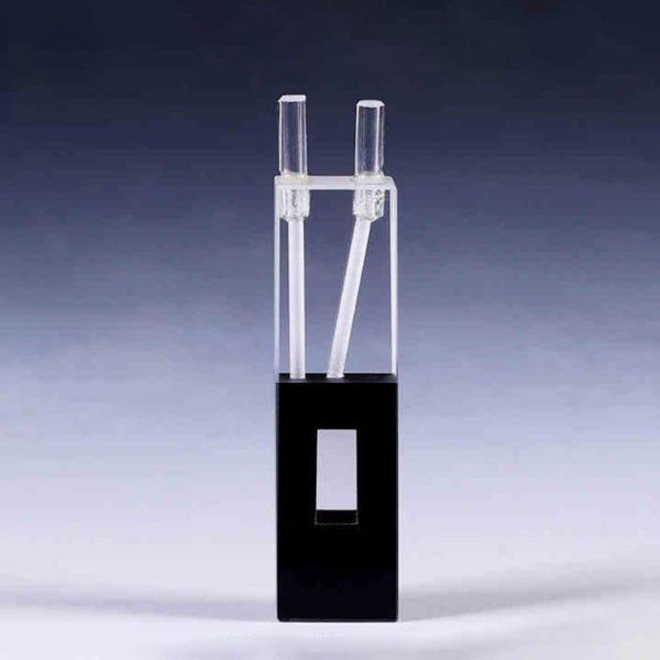 400uL Black Flow Through Cell Quartz