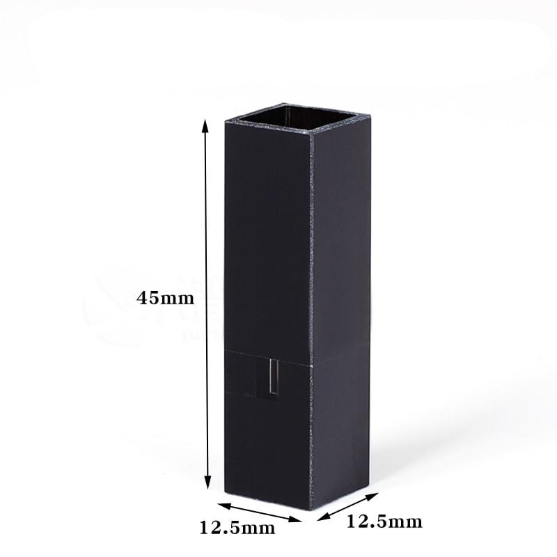 45uL Black Wall Micro Quartz Cuvette Size