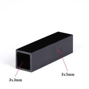 45uL Black Wall Micro Quartz Cuvette with 3x5mm Window