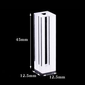4mm Internal Path 4 Windows Fluorometer Cuvette Dimensions