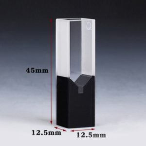 50uL Semi Black Wall Cuvette for Spectrometer Outer Size