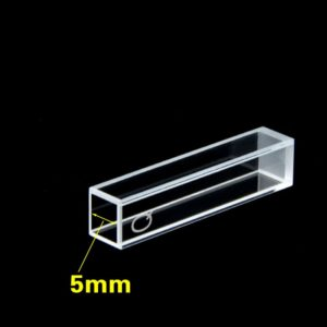 5mm x 5mm Square Path Length 4 Clear Windows Customized Cuvette