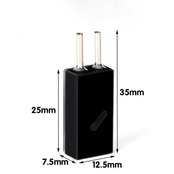 5mm Path Length Black 16uL Steel Connector Flow Cell Size