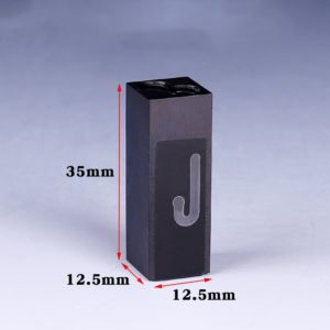 Black 32uL M6 Connector Flow Cell Dimension