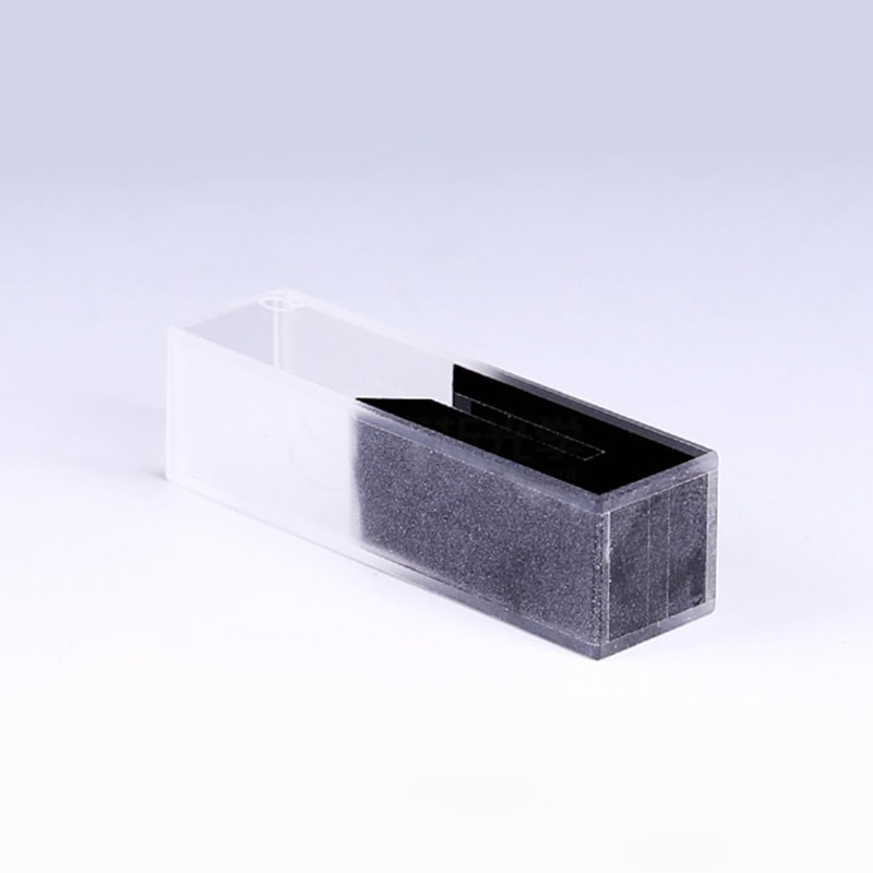 Black Wall Micro Cuvette for UV vis
