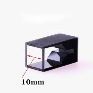 Custom 10mm 25mm Height 100uL 2 Window Balck Wall Cuvette