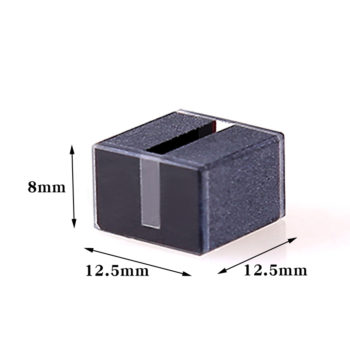 Custom 10mm 8mm Height Black Wall Cuvette for Spectrometer