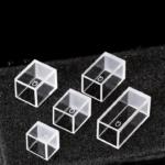 Custom Short Height Cuvette, 4 Windows, 10 mm, 15 mm, 17 mm, 20 mm, 27 mm, QN4CF, Quartz, Customized Short Height Cuvette