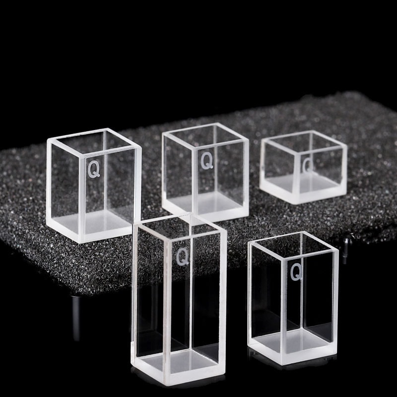 Custom Short Height 4 Clear Window Square Cuvette