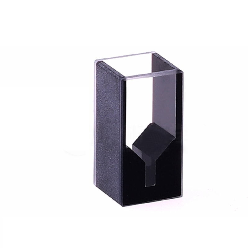 Customized Height 25mm 100uL Black Masked Wall Cuvette for UV vis