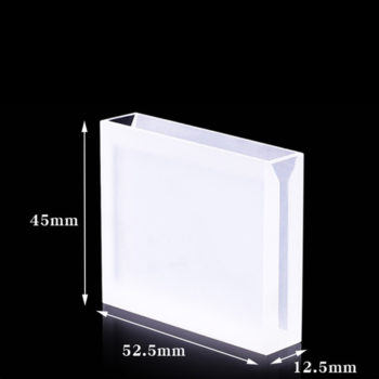 Semi Micro 2 Polished Sides UV vis Cuvette 50mm Dimension