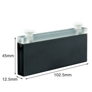 Stopper 100mm Path Length Black Walls 7mL Cuvette DImension