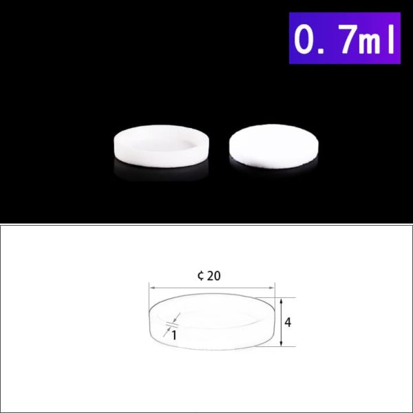 0.7mL Alumina Crucibles with Cover Cylindrical