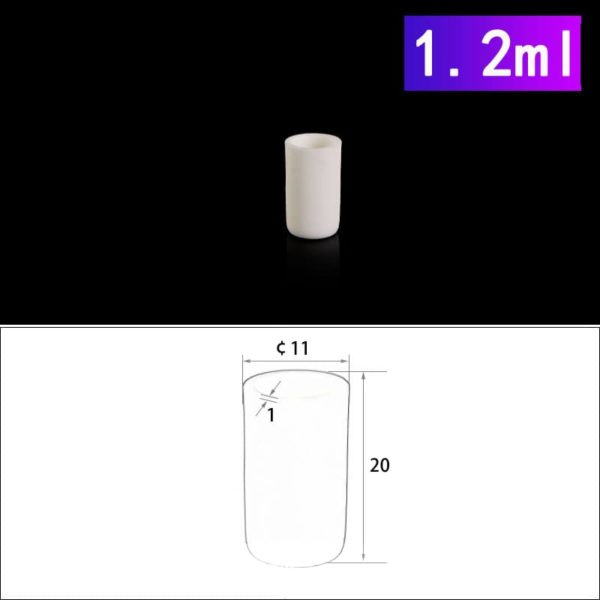 1.2mL Cylindrical Alumina Crucibles without Cover