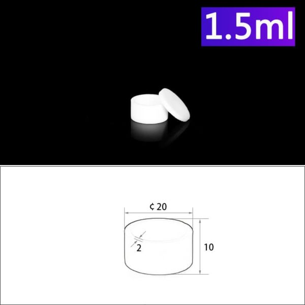 1.5ml Alumina Crucibles with Cover, Cylindrical
