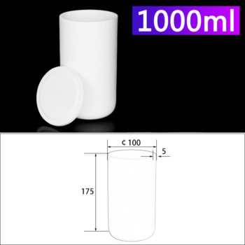 1000mL Alumina Crucibles with Cover Cylindrical