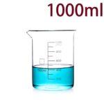 C724, Quartz Beaker, 1000ml, 1100-1450°C, 300-800nm (1pc/ea)