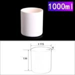 C264, Cylindrical Crucible, 1000ml, 115x130mm, Alumina Crucible NO Cover (1pc/ea)