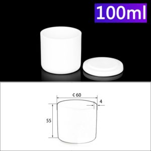 100mL Alumina Crucibles with Cover Cylindrical